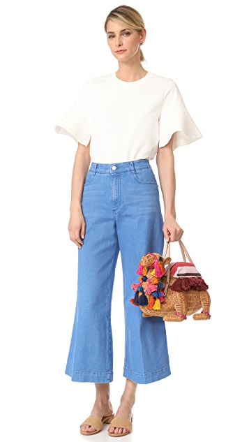 Kate Spade New York Wicker Camel Bag
