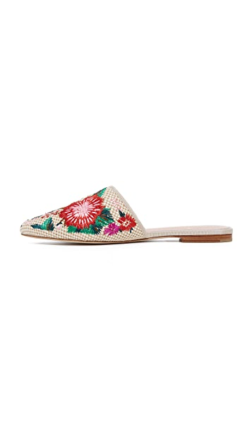 Kate Spade New York Monteclaire Embroidered Mules