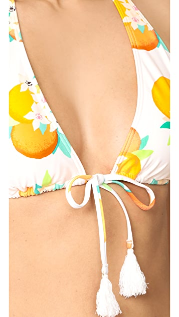 Kate Spade New York Orangerie Bikini Top