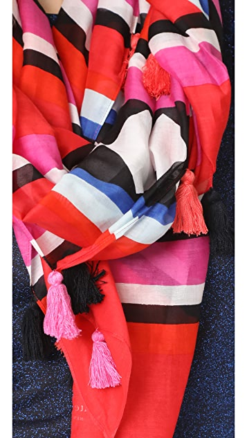 Kate Spade New York Geo Border Oblong Scarf
