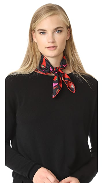 Kate Spade New York Hot Pepper Silk Bandana