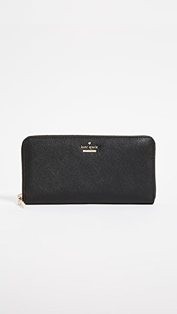 Kate Spade New York Cameron Street Lacey Zip Around Wallet - Black