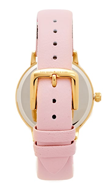 Kate Spade New York Часы Novelty с кожаным ремешком