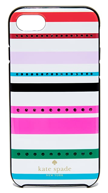 Kate Spade New York Jeweled Fiesta Stripe iPhone 7 / 8 Case