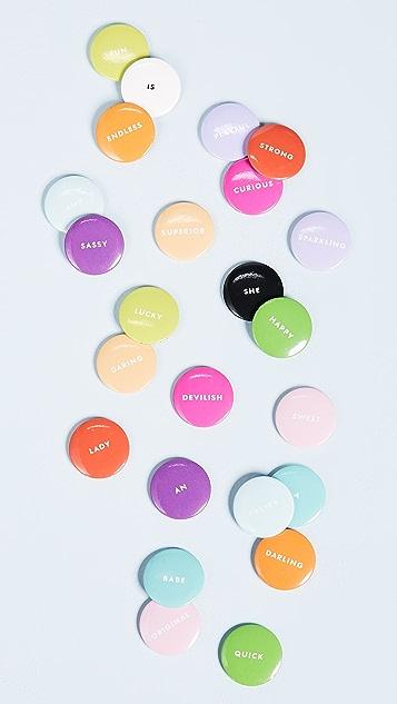 Kate Spade New York Assorted Magnet Set
