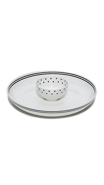 Kate Spade New York Raise a Glass Chip & Dip Bowl