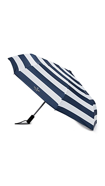 Kate Spade New York Jubilee Stripe Travel Umbrella