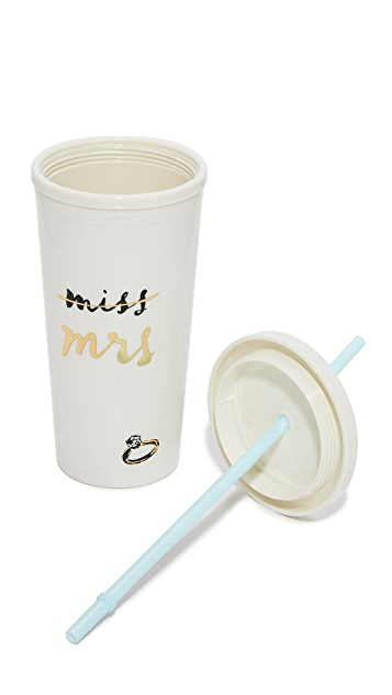 Kate Spade New York Miss to Mrs. Tumbler with Straw