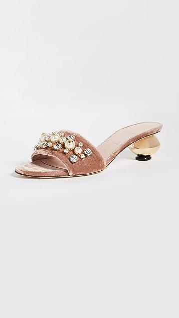 Kate Spade New York Penrose Gold Ball Heel City Sandals