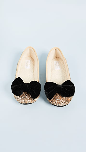 Kate Spade New York Sussex Glitter Ballet Flats