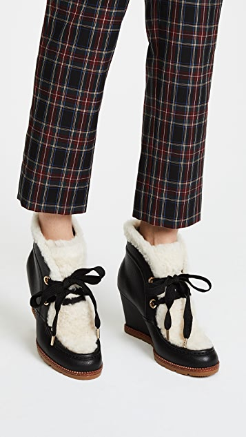 Kate Spade New York Sandy Wedge Shearling Booties