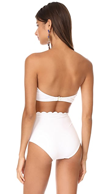 Kate Spade New York Scalloped Bandeau Bikini Top