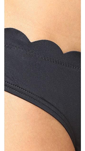 Kate Spade New York 扇贝饰边低腰比基尼式泳裤