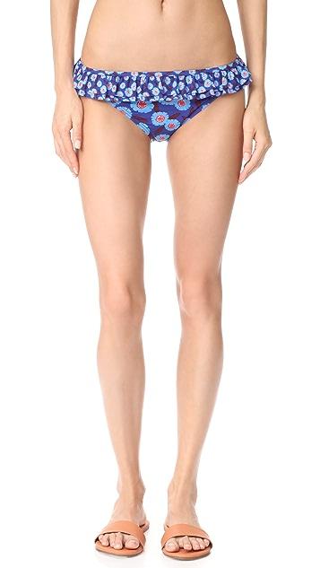 Kate Spade New York Double Ruffle Classic Bikini Bottoms