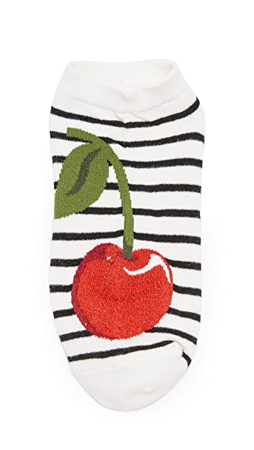 Kate Spade New York Cherry 3 Pack Sock Set