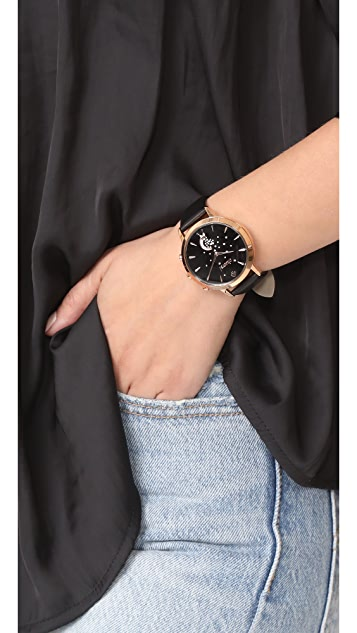 Kate Spade New York Grand Metro Leather Smartwatch Tracker