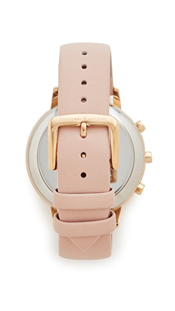 Kate Spade New York Grand Metro Leather Smartwatch Tracker