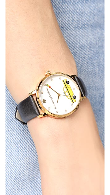 Kate Spade New York In a New York Minute Leather Watch