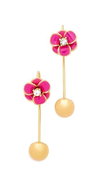 Kate Spade New York Shine On Flower Hanger Earrings