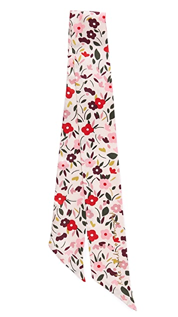 Kate Spade New York Bohemian Floral Skinny Scarf