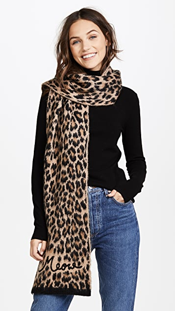 6567a0254b Kate Spade New York Brushed Leopard Muffler Scarf