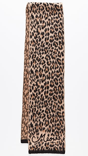 Kate Spade New York Brushed Leopard Muffler Scarf