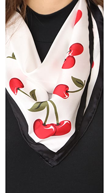 Kate Spade New York Cherry Silk Bandana