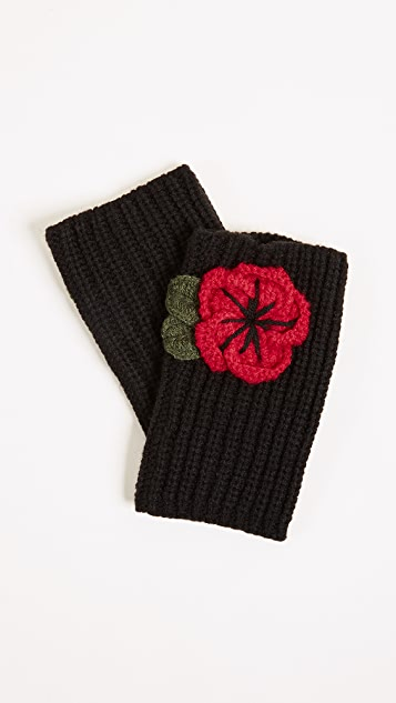 Kate Spade New York Crochet Poppy Arm Warmers