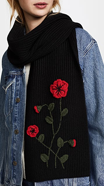 Kate Spade New York Crochet Poppy Muffler