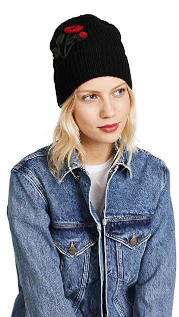 Kate Spade New York Crochet Poppy Beanie