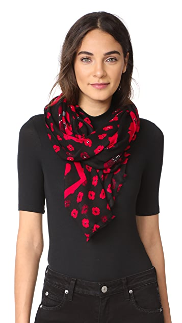 Kate Spade New York Falling Poppy Oblong Scarf