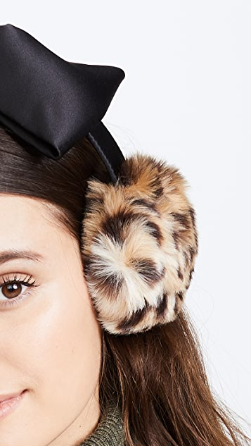 Kate Spade New York Leopard Bow Earmuffs