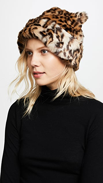 Kate Spade New York Leopard Hat with Ears