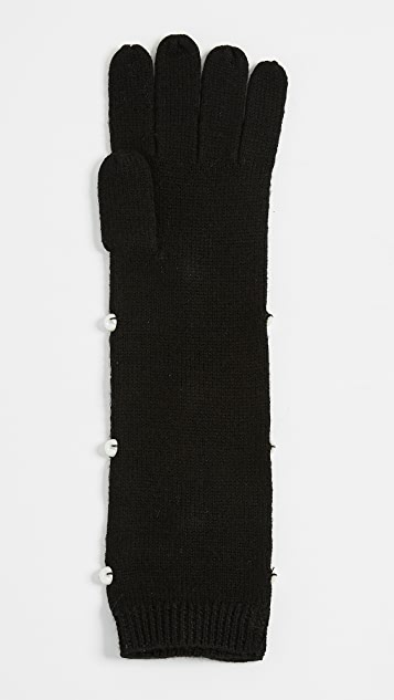 Kate Spade New York Imitation Pearl Gloves
