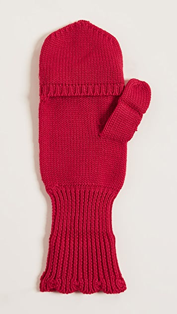 Kate Spade New York Scallop Pop Top Mittens