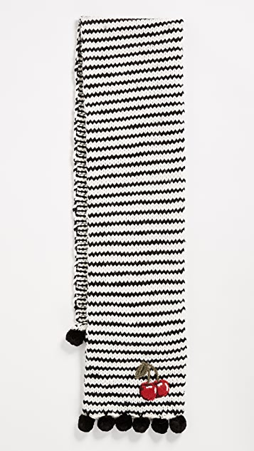 Kate Spade New York Hand Knit Cherie Muffler Scarf