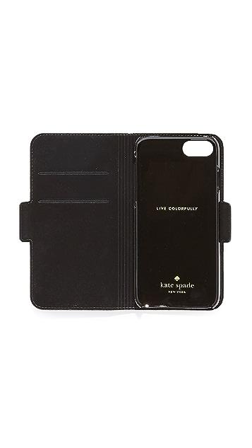 Kate Spade New York Antoine Applique Folio iPhone 7 / 8 Case
