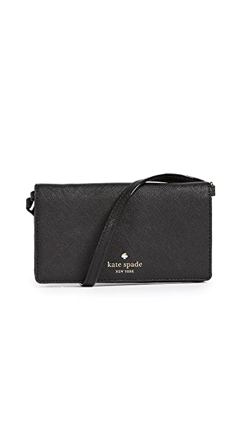 Kate Spade New York iPhone 7 / 8 Leather Cross Body Wallet