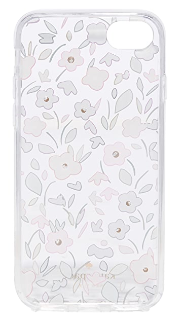 Kate Spade New York Jeweled Boho Floral Clear iPhone 7 / 8 Case