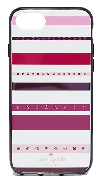 Kate Spade New York Jeweled Stripe iPhone 7 Case / 8 Case