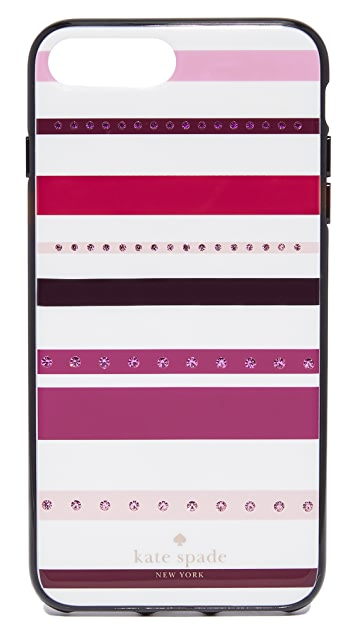 Kate Spade New York Jeweled Stripe iPhone 7 Plus Case  / 8 Plus Case