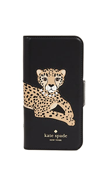 Kate Spade New York Cheetah Folio iPhone 7 / 8 Case