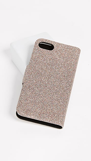 Kate Spade New York Glitter Wrap Folio iPhone 7 / 8 Case