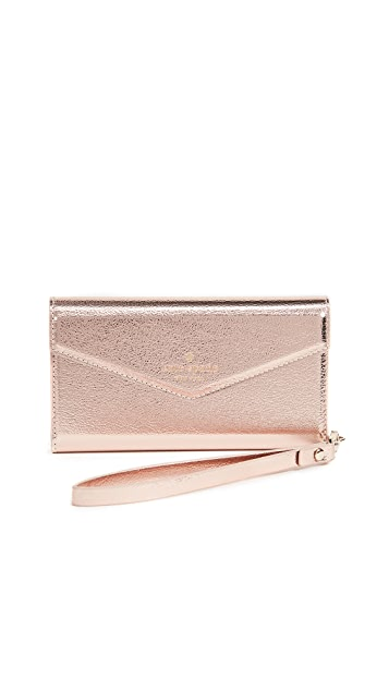 Kate Spade New York Metallic Envelope iPhone 7 / 8 Wristlet