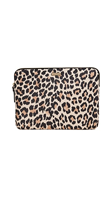 Kate Spade New York 13 Inch Leopard Laptop Sleeve
