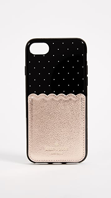 Kate Spade New York Metallic Scallop Adhesive Phone Pocket