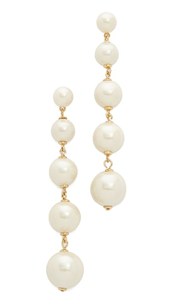 Kate Spade New York Girly Pearly Linear Earrings