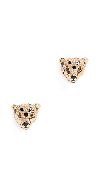 Kate Spade New York Run Wild Cheetah Stud Earrings