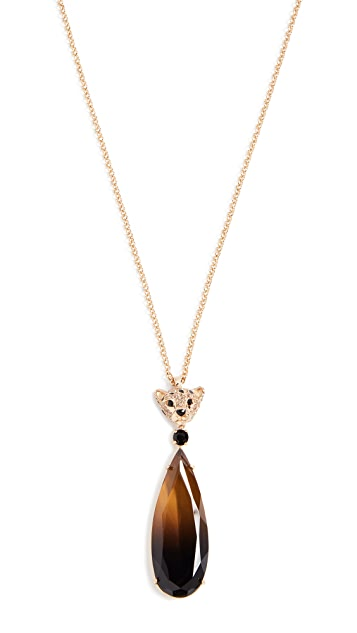Kate Spade New York Run Wild Cheetah Pendant Necklace