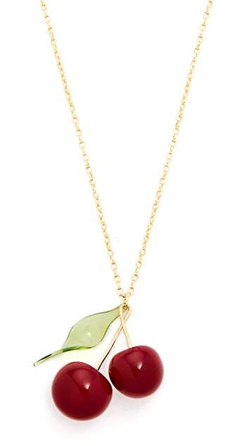 Kate Spade New York Ma Cherie Cherry Pendant Necklace  7262bd4fdd25